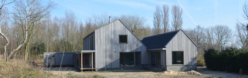 Brettsperrholzkonstrution mit Zedernfassade